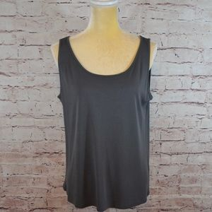 Eileen Fisher Silk Gray Cami Tank Size Large A7